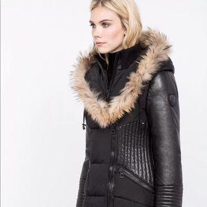 a35ea49438d04 RUDSAK Jackets   Coats - Rudsak Shauna Leather Sleeves Down Parka